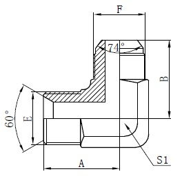 BSP Hydrauliska Adaptrar Teckning