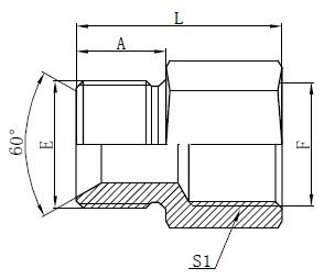 British Standard Slang Adapters Drawing