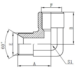 Armband BSP Adapter Fittings Ritning