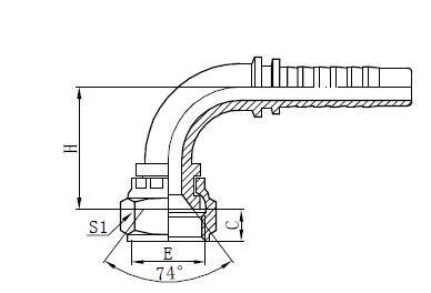 Två-tråds flätad slangmontering